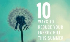 10 Ways to Reduce Your Energy Bill This Summer