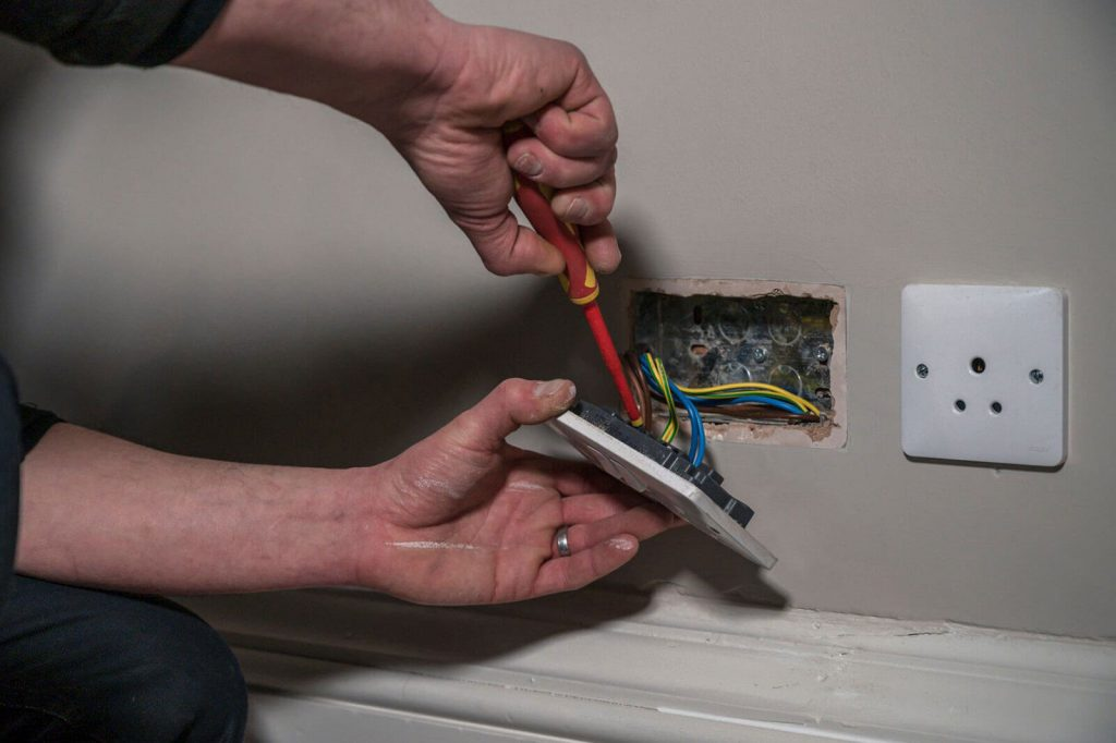 electrician in a home